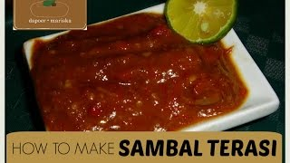 Resep Sambal Terasi | Fried Shrimp Paste Sambal Recipe