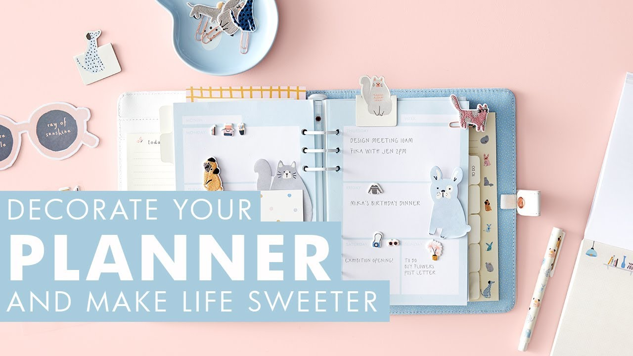 Decorate Your Planner & Make Life Sweeter - YouTube