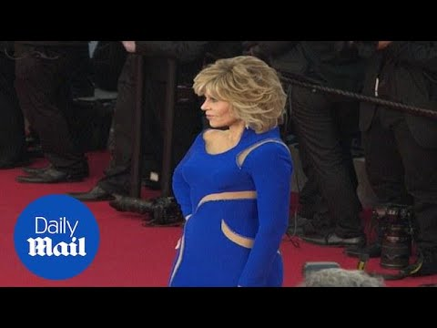 Jane Fonda turns heads in blue gown at Cannes - Daily Mail