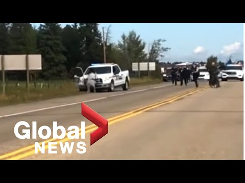 RCMP police vehicle used to knock down and arrest man in Alberta