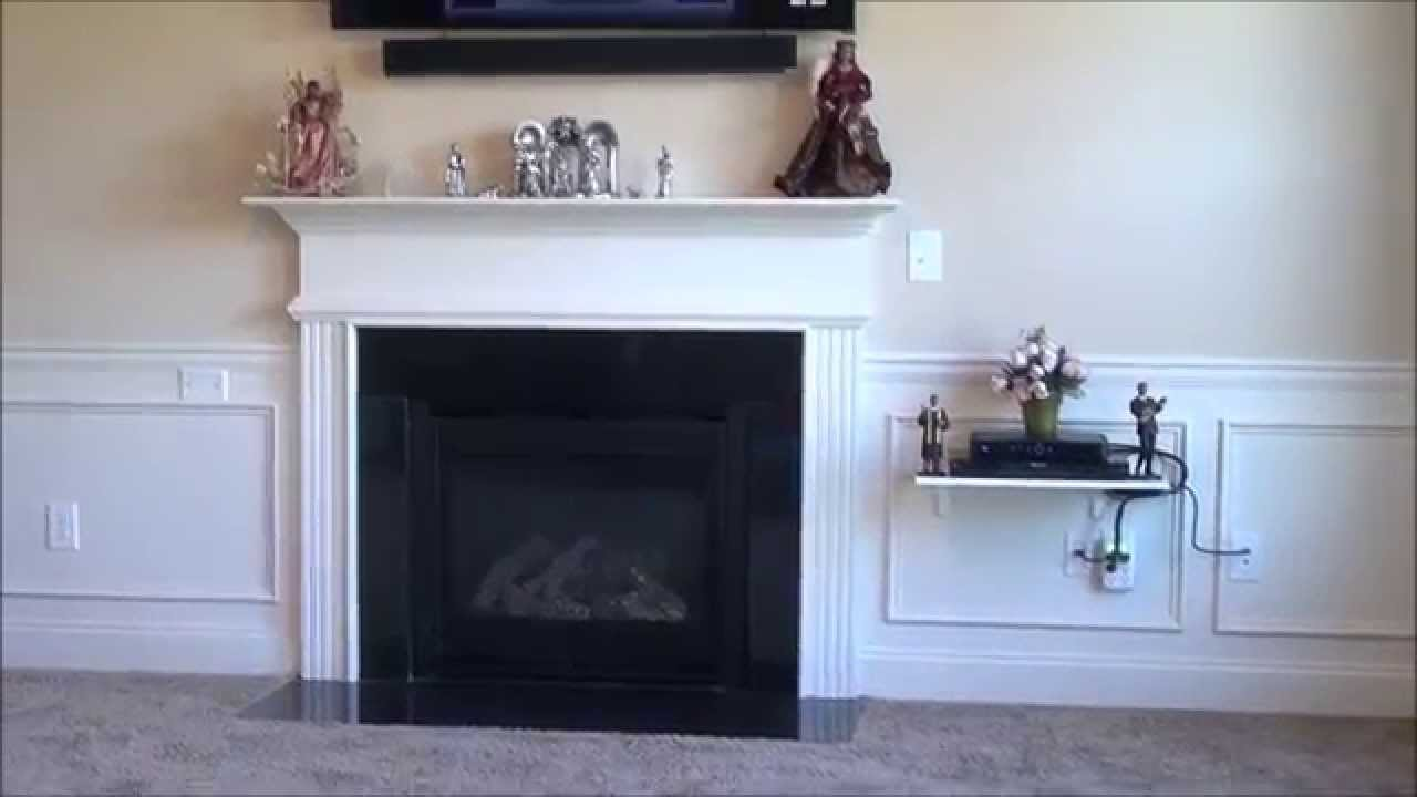 how to install your flat screen tv without wires showing youtube rh youtube com Wall Hung Destiny Hearthflame 95 Electric Wall Fireplace