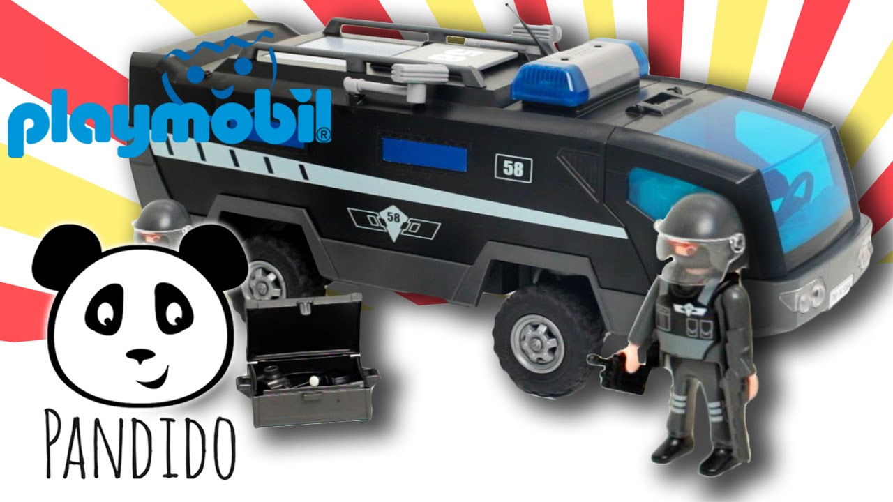 playmobil police city action tactical unit truck  let's