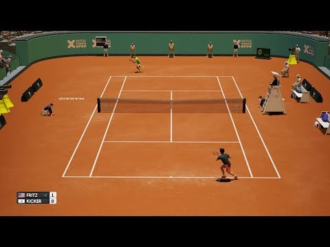 Taylor Fritz vs Nicolás Kicker - AO Tennis PS4 Gameplay