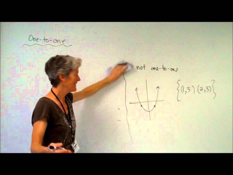algebra 2 one to one and onto functions - YouTube
