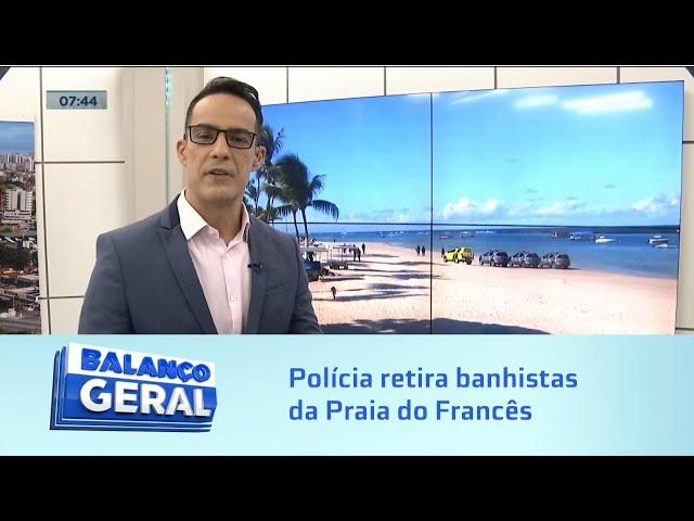 Desrespeito ao decreto: Polícia é acionada para retirar banhistas na Praia do Francês