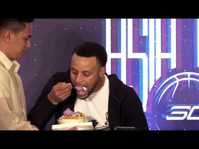 Steph Curry gets sweet Manila welcome, tries 'halo halo'