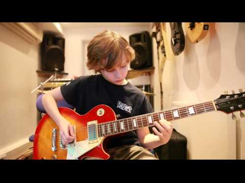 10 year old guitarist Kieran Fell from The Mini Band covers Only You Can Rock Me by UFO