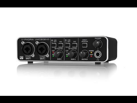 U-PHORIA UMC202HD 24-Bit/192 kHz 2x2 USB Audio Interface