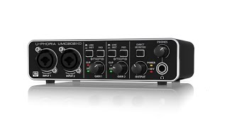U-PHORIA UMC202HD 24-Bit/192 kHz 2x2 USB Audio Interface