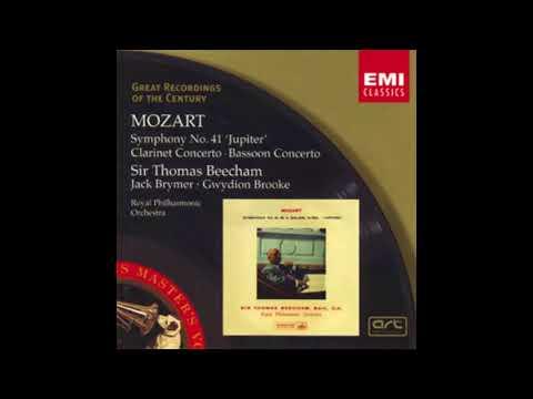 MOZART: Clarinet Concerto in A major KV 622 / Brymer · Beecham·Royal Philharmonic Orchestra