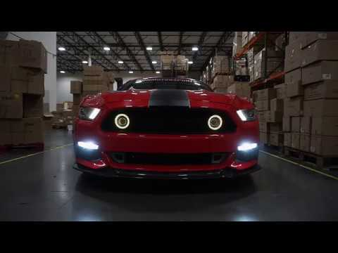 Upcoming 2015 2017 Ford Mustang Center Grill Lights Youtube