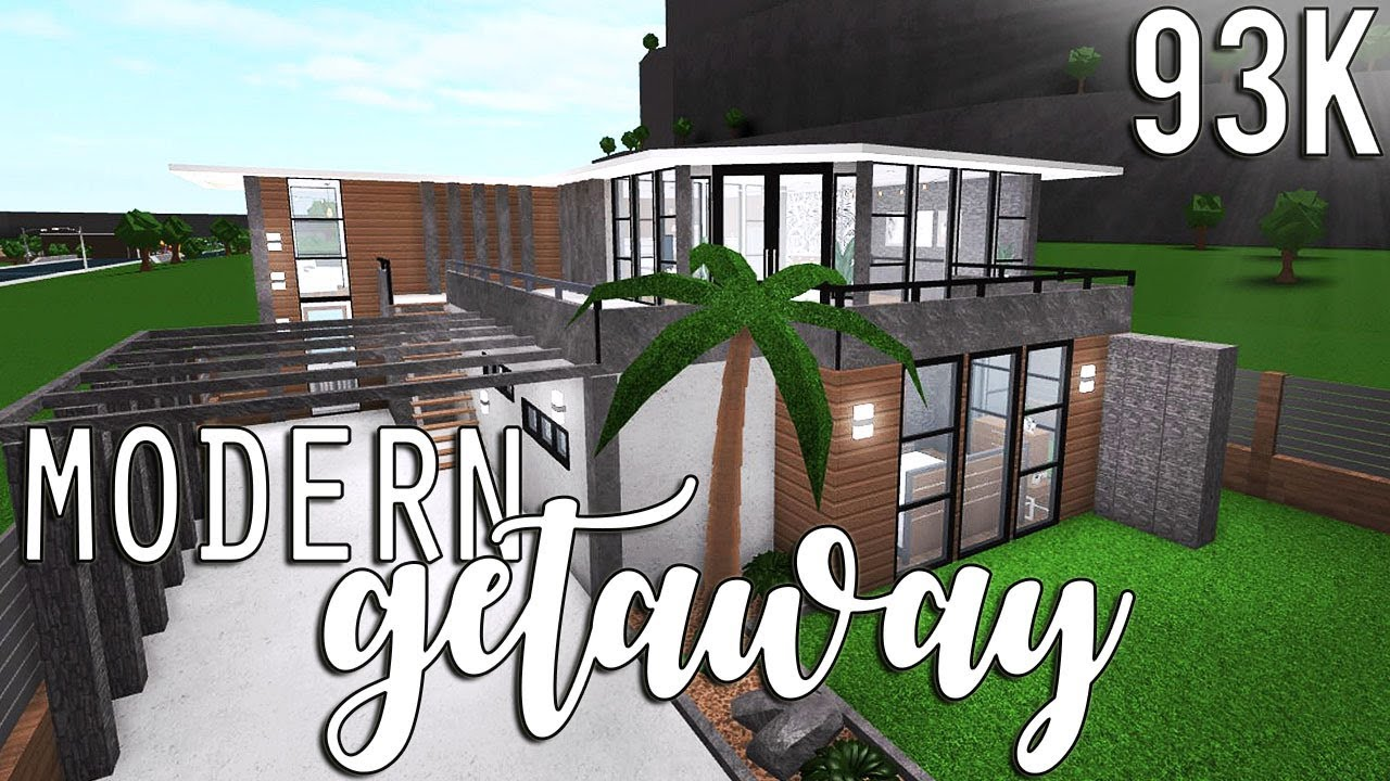 Bloxburg: Modern Getaway 93k - YouTube