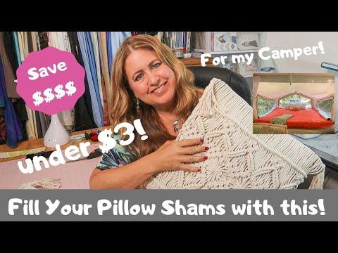 Easy Pillow Sham Stuffing HACK Save Money!