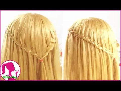 Hairstyles - Cách Tết Tóc Thác Nước Đẹp Đi Học Đi Làm