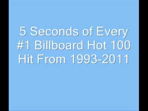 5 Seconds of Every #1 Billboard Hot 100 Hit From 19932011