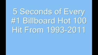 5 Seconds of Every #1 Billboard Hot 100 Hit From 1993-2011