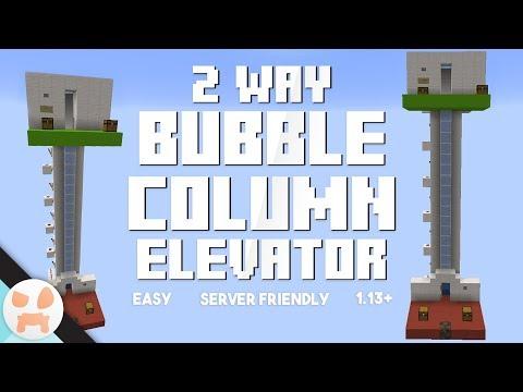 2 WAY BUBBLE COLUMN ELEVATOR TUTORIAL | Server Friendly, Easy, 1.13+