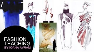 Fashion collection inspired by architecture, sculpture and painting