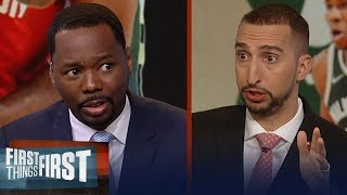Nick Wright says MVP race between Giannis and Harden is too close to call | NBA | FIRST THINGS FIRST