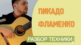 Уроки гитары фламенко: Пикадо (Апояндо)