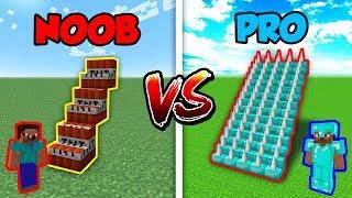 Minecraft NOOB vs. PRO: STAIRCASE TRAP in Minecraft!