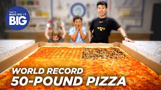 I_Made_A_Giant_50-Pound_Pizza_For_Two_Little_Kids_•_Tasty