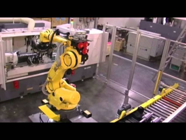Automation Solutions: Fanuc R2000 iB robot utilizes machine vision, tooling, and dexterity