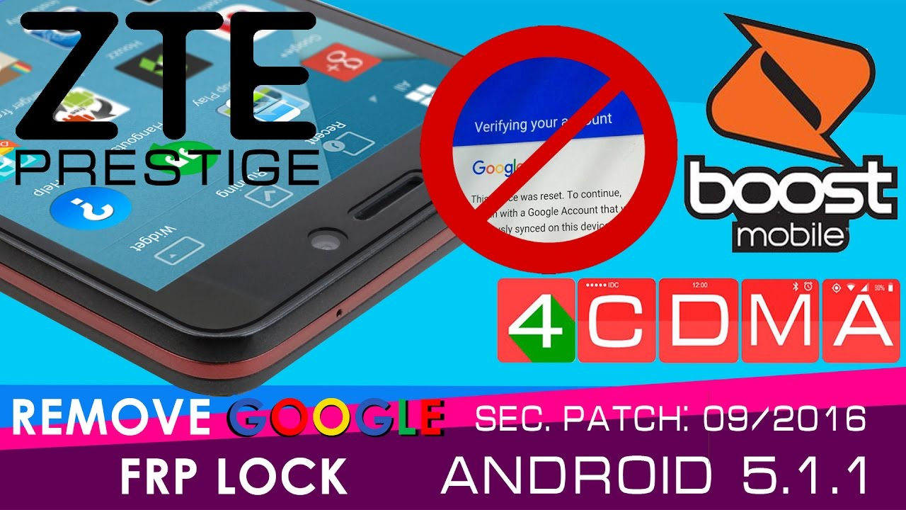 New Method!!! ALL ZTE Prestige GOOGLE ACCOUNT FRP BYPASS!! Android 5 1