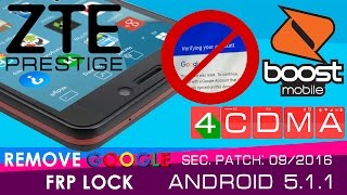 New Method!!! ALL ZTE Prestige GOOGLE ACCOUNT FRP BYPASS!! Android 5.1