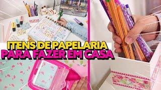 DIY DE PAPELARIA - IDEIAS PARA ORGANIZAÇÃO