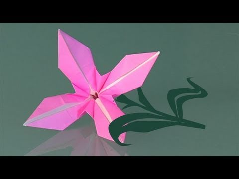 How to make a paper flower origami youtube mightylinksfo