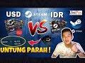 UNTUNG MANA ? STEAM WALLET USD (Dollar) VS STEAM WALLET IDR (Rupiah) & TUTORIAL REDEEM STEAM UNIPIN