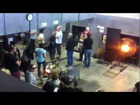 Part X Lino Tagliapietra in action at Canberra Glassworks Sept2012