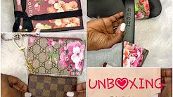 GUCCI GG BLOOMS UNBOXING| SLIDES| CARD CASE & KEY CASE w/ LV KEY CLE COMPARISON