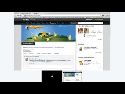 BizzyWeb Presents: LinkedIn Company Pages for Business on Buzz Builders