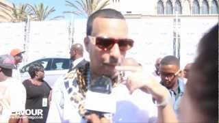 French Montana talks crazy Live on the red carpet at the  BET Awards super funny