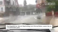 Unwetter am Männertag in Sondershausen
