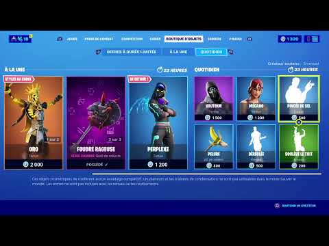 Live Boutiques Du 26 Mars Fortnite Battle Royale Ps4 [FR]