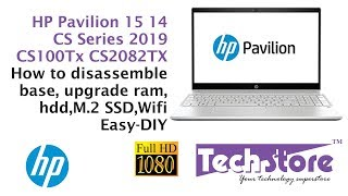 HP Pavilion 14 15 CS Series 2082TX 1000TX 2096TX : how to disassemble base upgrade memory m.2 ssd