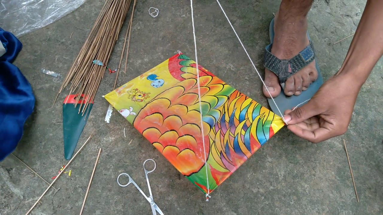 Download Make a kaite in 5 minit.how to make a kait.#make kite at home.