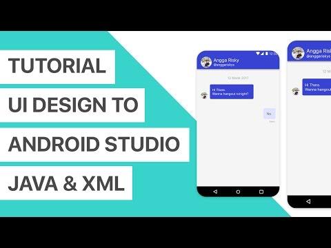 Chat App UI Design to Android Studio XML and Java Tutorial