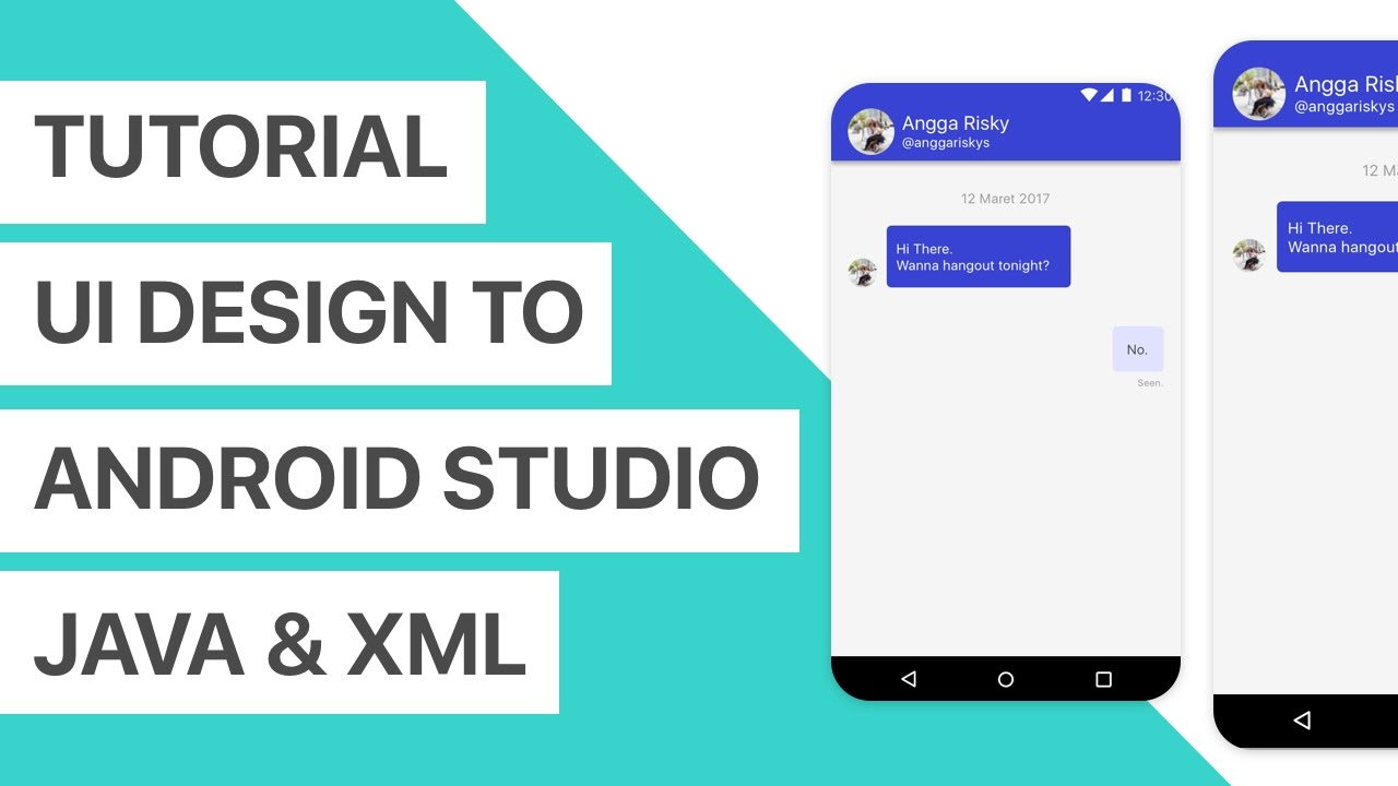 Chat app ui design to android studio xml and java tutorial youtube chat app ui design to android studio xml and java tutorial baditri Image collections