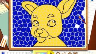 Раскрась милых собачек - онлайн раскраски - Igrytessy.ru