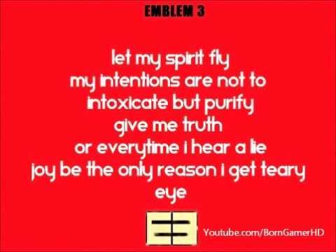 Curious - Emblem 3 Song Lyrics On Screen