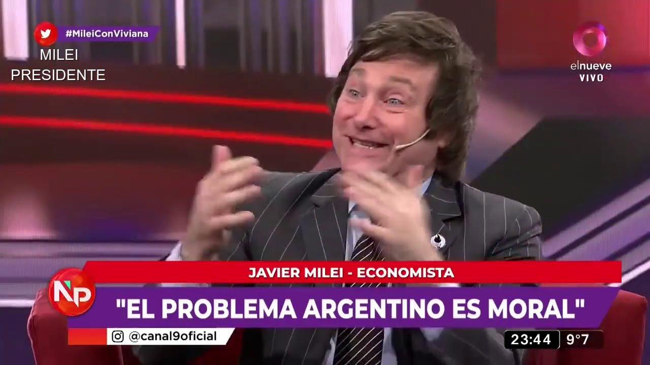 Impecable Javier Milei con Viviana Canosa- 02/10/20