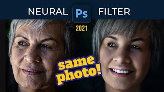 Adobe Photoshop 2021 - The New Neural Filter - Amazing Artificial Intelligence in Photoshop!