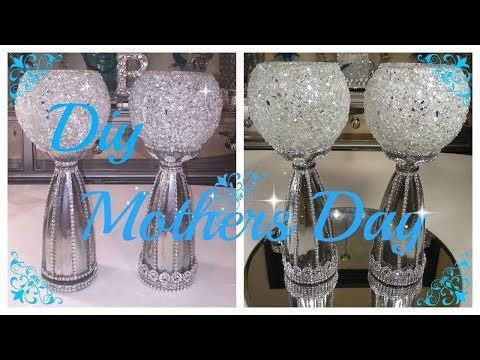 CRUSHED GLASS CANDLE HOLDER / VASE DIY