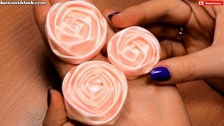 Как сделать розу из атласной ленты для свадебного букета? Мастер класс / DIY Satin Ribbon Rose(Меня зовут Настя, и я рада приветствовать вас на своем канале, на котором представлены мастер класс по канза..., 2014-04-14T06:00:01.000Z)
