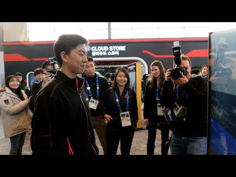 Olympic Games Figure Skater Vincent Zhou Tours  Alibaba's Showcase