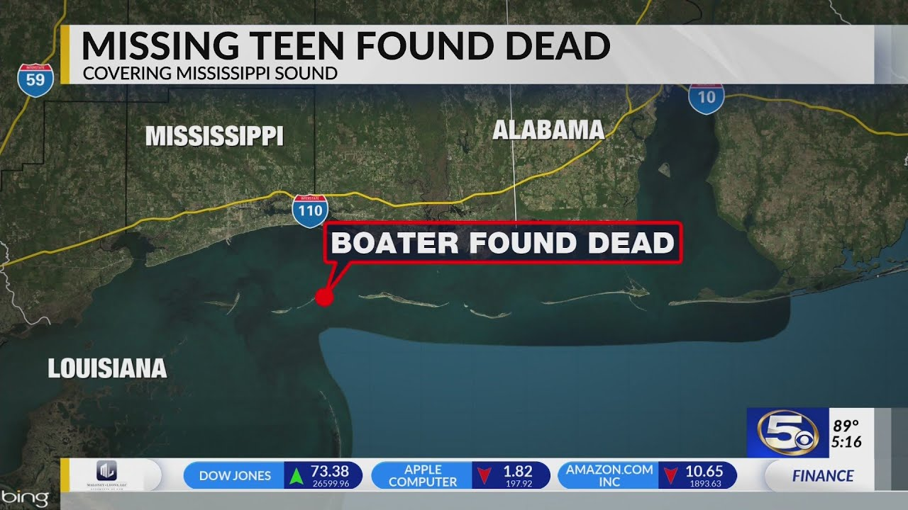 17-year-old's body found after Mississippi Sound drowning